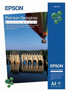 Бумага Epson Premium Semigloss Photo Paper (20 листов A4)