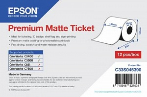 Бумага Epson Premium Matte Ticket Roll (рулон 102 мм x 50 м)