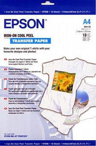 Бумага Epson Iron-on Cool Peel Transfer Paper (10 листов A4)