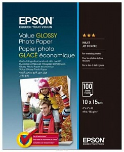 Бумага Epson Value Glossy Photo Paper (100 листов 10x15 см)
