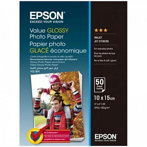 Бумага Epson Value Glossy Photo Paper (50 листов 10x15 см)