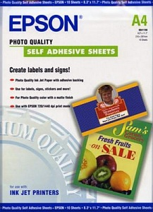 Бумага Epson Photo Quality Self Adhesive Sheets (10 листов A4)